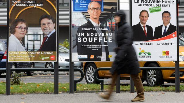 Depuis avril, 14 millions de francs ont été investis dans des affiches. [Keystone]