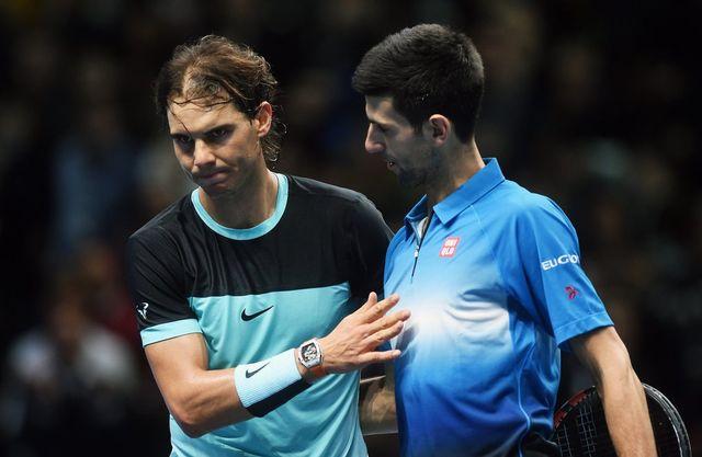 Rafael Nadal n'a pas fait le poids en demi-finale du Masters face au no 1 mondial. [Will Oliver - Keystone]