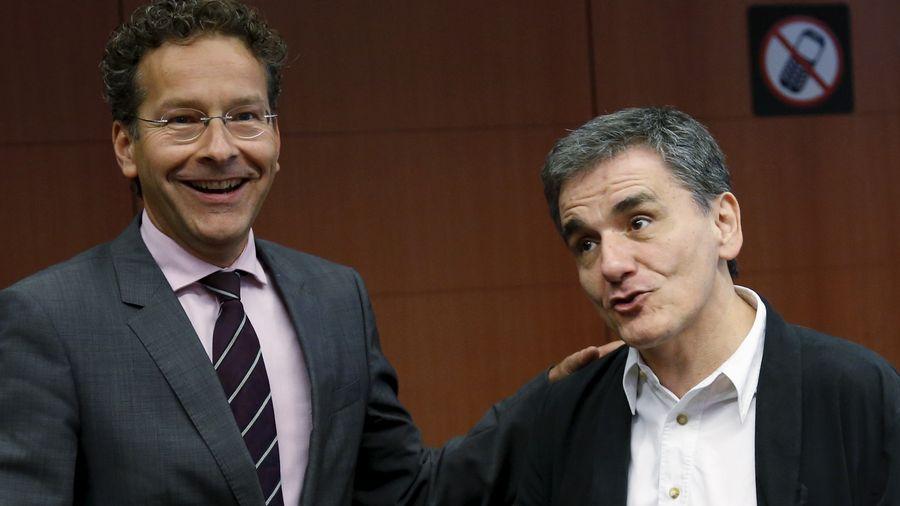 Le président de l'Eurogroupe Jeroen Dijsselbloem et le ministre grec des finance Euclid Tsakalotos photographiés en août dernier.