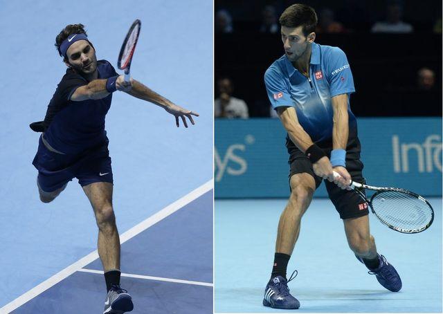 Blessé au dos l'an passé, Federer n'avait pas pu affronter Djokovic en finale à Londres. [T.Ireland/W.Oliver - Keystone]