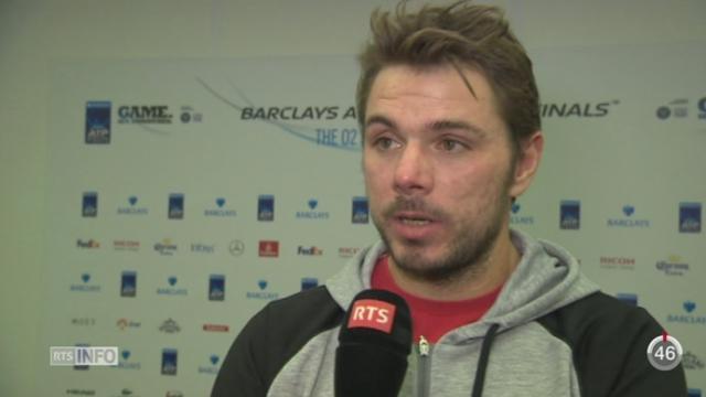 Tennis - Masters de Londres: Wawrinka s'est incliné face à Federer [RTS]