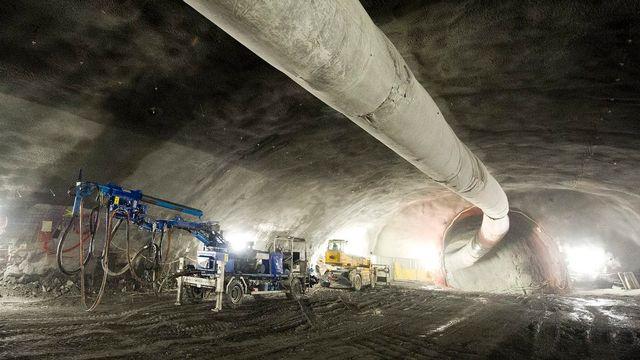 Le chantier souterrain de la future centrale de pompage-turbinage de Nant de Drance. [Jean-Christophe Bott - Keystone]
