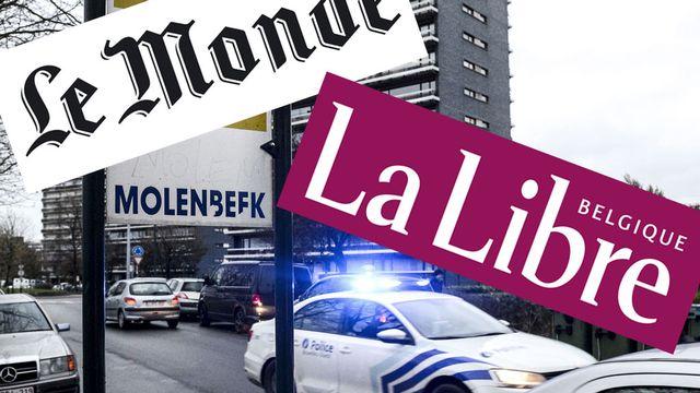 """Le quotidien belge a répliqué au journal français, qui a accusé la Belgique d'être """"une plaque tournante du djihadisme"""". [AFP/Photomontage]"""