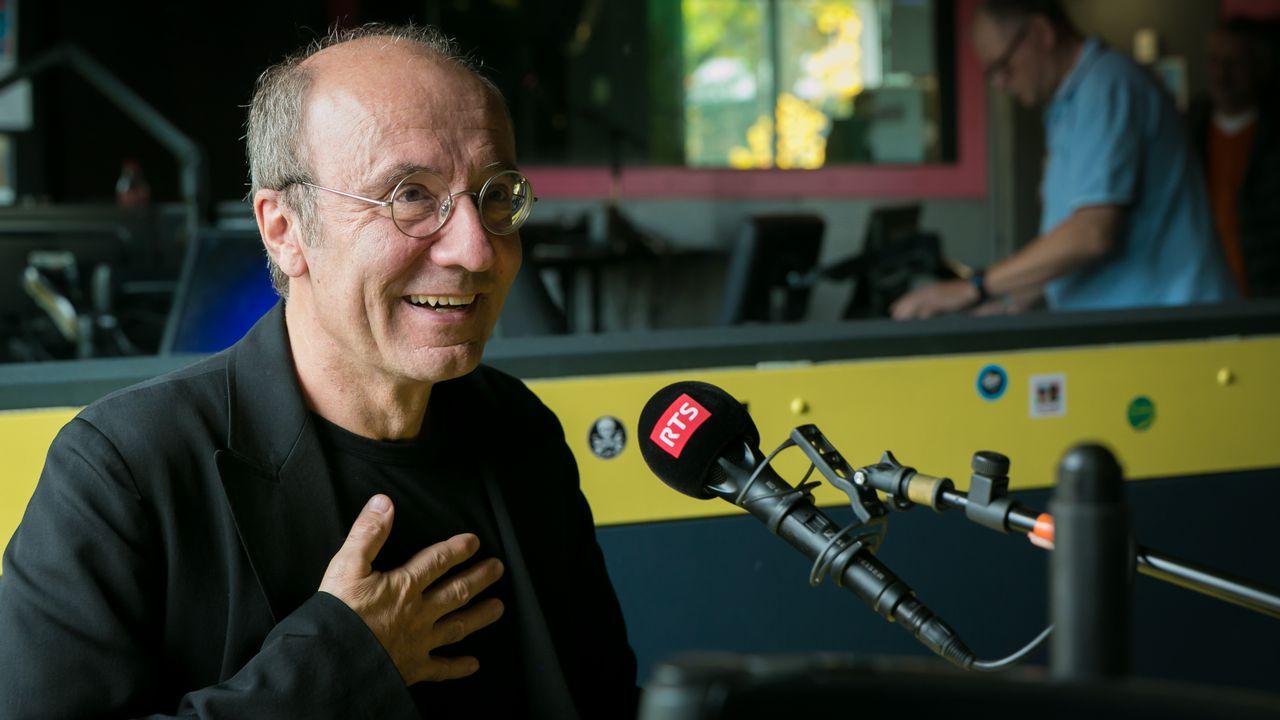 Philippe Geluck en visite à la RTS. [Marc Bertolazzi - RTS]