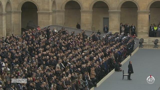 Une cérémonie a eu lieu en hommage aux victimes des attentats de Paris [RTS]