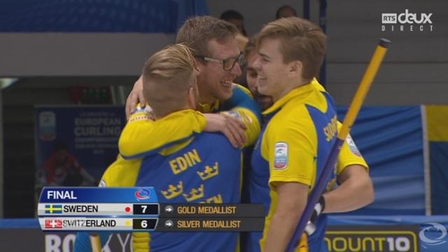 Finale messieurs, Suisse - Suède: la Suède championne d'Europe! [RTS]