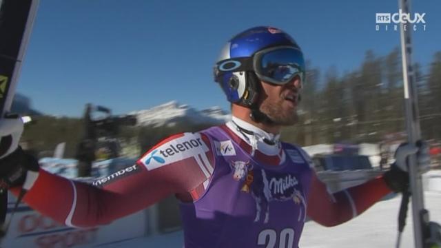Descente messieurs: Victoire d'Aksel Lund Svindal (NOR) avec un chrono à 1:47.29 [RTS]