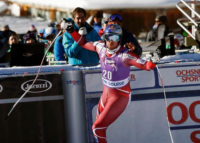 Aksel Lund Svindal a montré qu'il faudrait compter avec lui cette année en vitesse. [Jeff Mcintosh - Keystone]