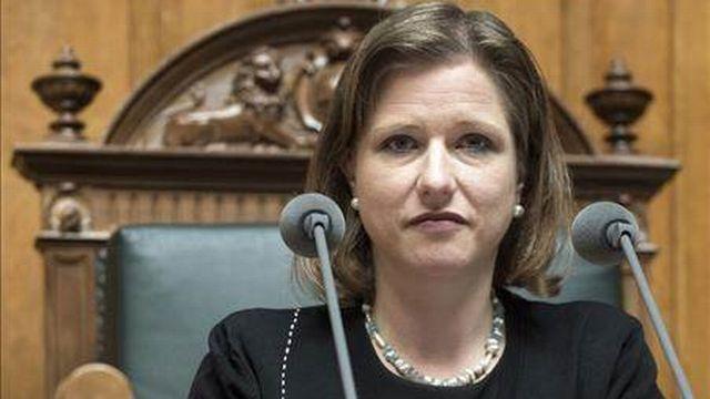 La conseillère nationale PLR bernoise Christa Markwalder. [Keystone]