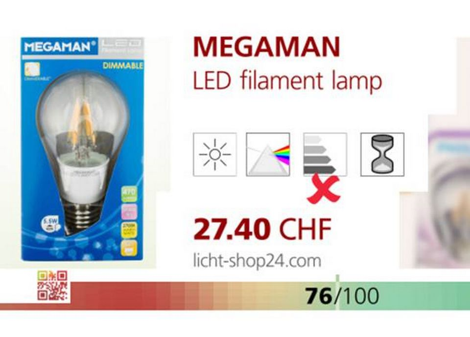 LED filament Lamp de MEGAMAN.