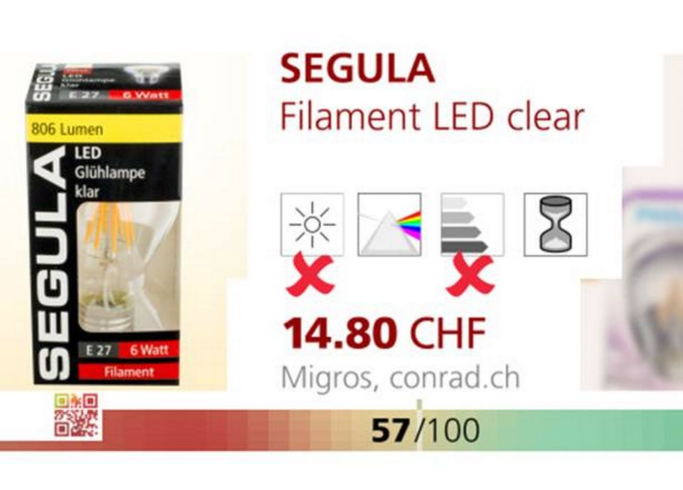 SEGULA filament LED clear.