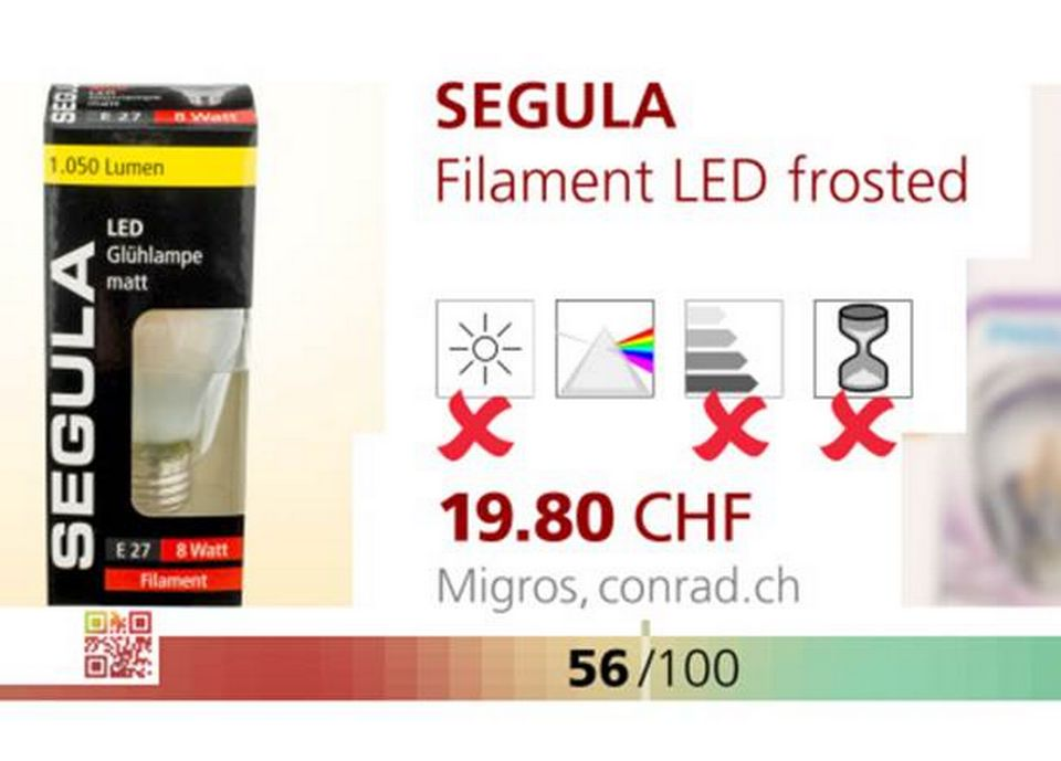 SEGULA Filament LED frosted.
