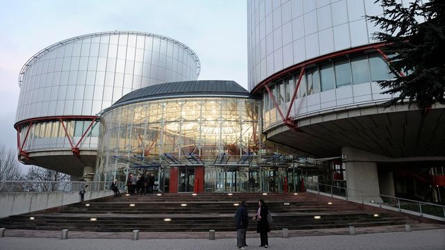 Bâtiment de la Cour européenne des droits de l'homme à Strasbourg. [Christophe Karaba - Keystone]