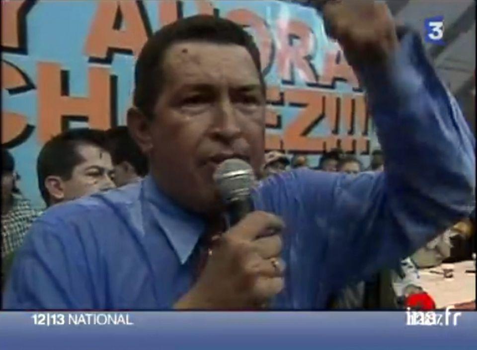 Portrait d'Hugo Chavez. [INA]