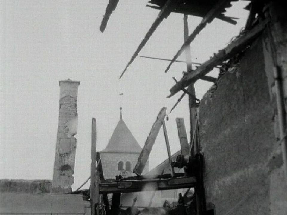 Un incendie ravage le village de l'Abbaye (VD) en 1966. [RTS]