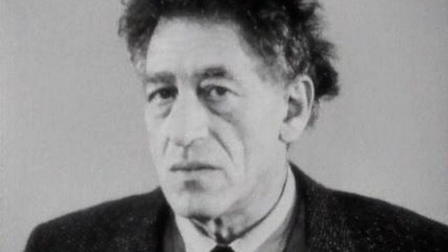 Le sculpteur et peintre Alberto Giacometti en 1962. [RTS]