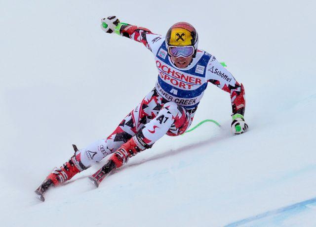 Le skieur de Salzbourg (32 victoires en Coupe du monde) n'avait encore jamais fait mieux que 3e en super-G. [Nathan Bilow - Keystone]