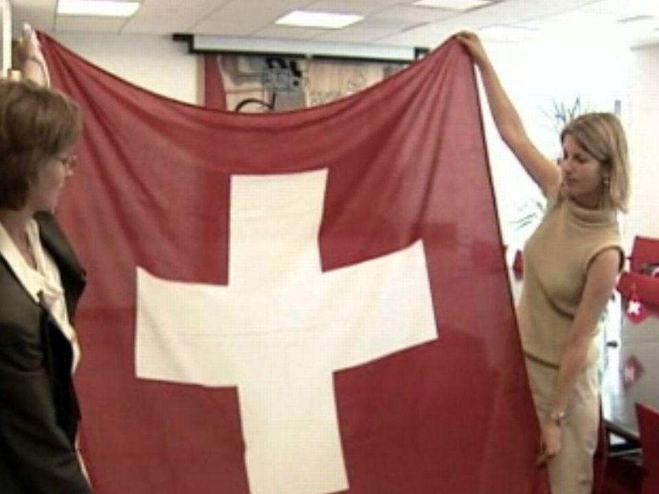 Le drapeau suisse très remarqué au siège de l'ONU.