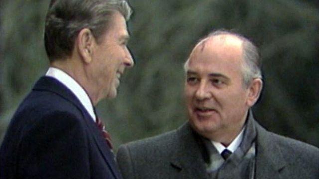 Premier jour de la rencontre entre Reagan et Gorbatchev à Genève.