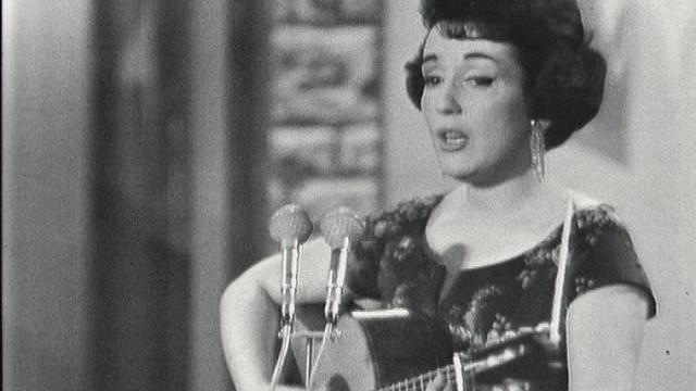 Gloria Lasso sur scène. [RTS]