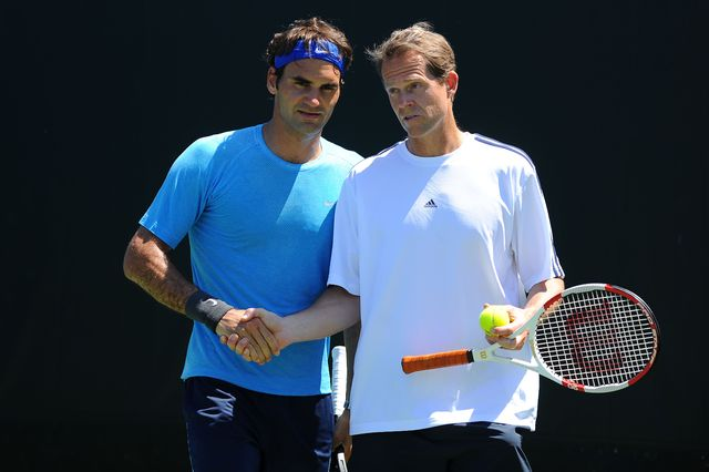 En 2 saisons avec Edberg, Federer a remporté 11 tournois sur le Circuit ATP. [Virginie Bouyer - EQ]