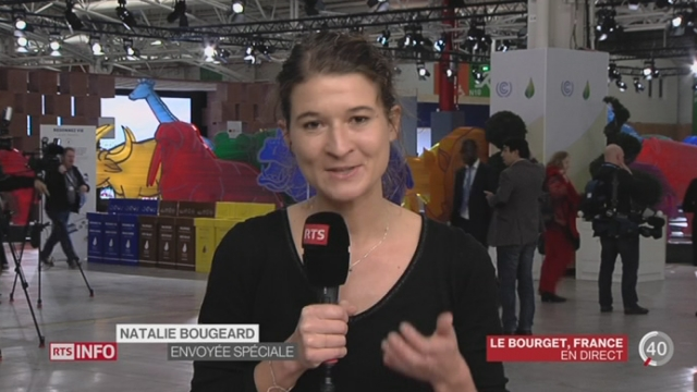 COP21: les explications de Natalie Bougeard, depuis le Bourget [RTS]