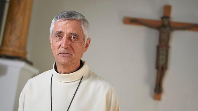 Monseigneur Jean-Marie Lovey est l'évêque du diocèse de Sion depuis le 28 septembre 2014. [Sedrik Nemeth - Keystone]