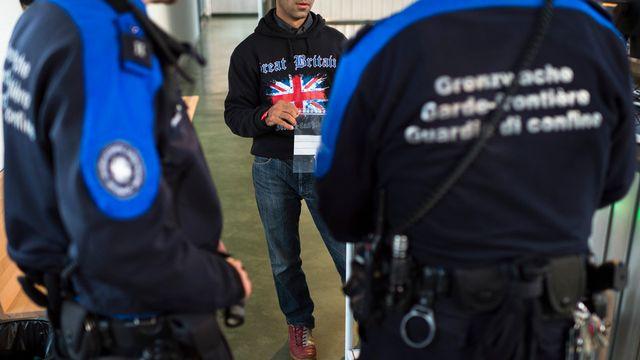 Le corps des gardes-frontière suisses. [Gian Ehrenzeller - Keystone]