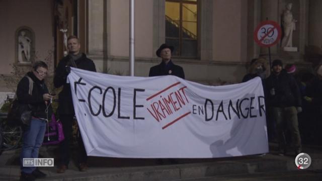 GE: les fonctionnaires se battent contre le plan d'économie [RTS]