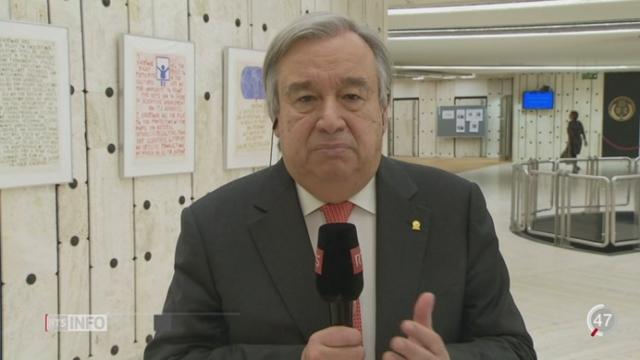 Crise des migrants: interview d'António Guterres,  Haut Commissaire des Nations Unies pour les Réfugiés [RTS]