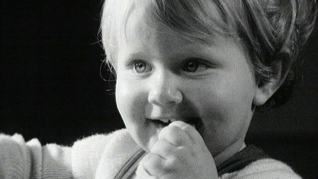 Nicolas Goretta à 18 mois en 1961. [RTS]