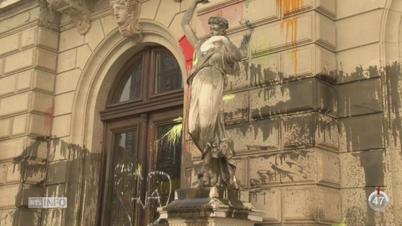 Une manifestation interdite a dégénéré à Genève [RTS]