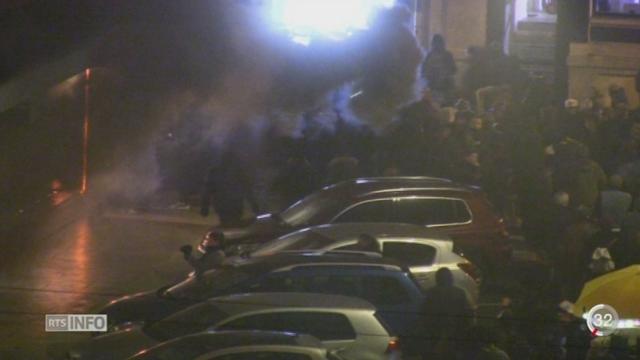 Des manifestants ont fait de nombreuses déprédations à Genève [RTS]