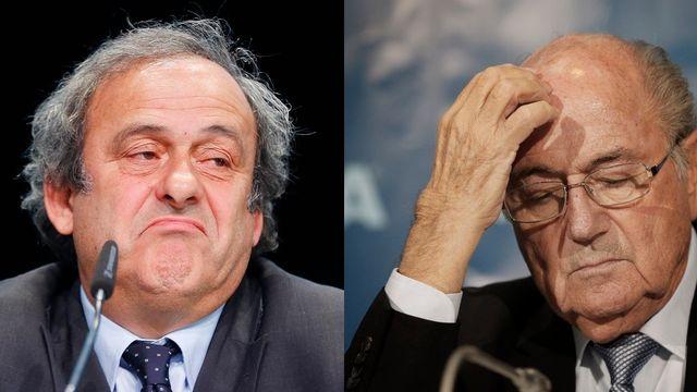 La commission d'éthique de la FIFA a suspendu pour huit ans Sepp Blatter et Michel Platini de toute activité liée au football. [Keystone]