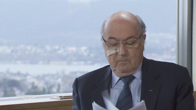 """Sepp Blatter: """"J'utiliserai tous les recours"""" [RTS]"""