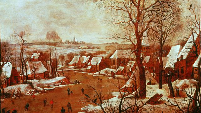 Paysage d'hiver de Peter Brueghel l'Ancien (1565) [Gianni d'Agli Orti - The Art Archive/The Picture Desk]