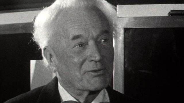 Hans Wilsdorf, créateur de l'entreprise Rolex, en 1959. [RTS]