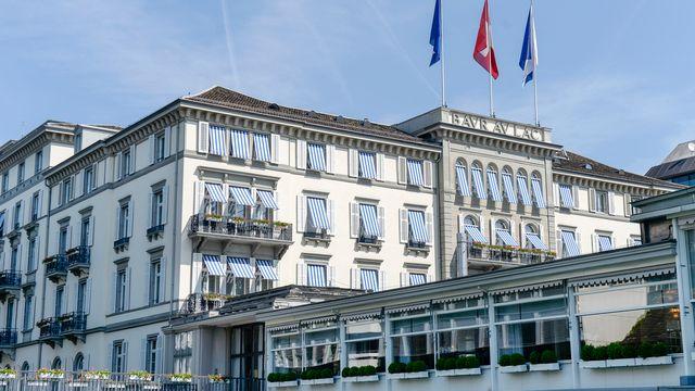 L'Hôtel Baur au Lac, à Zurich. [Walter Bieri - Keystone]