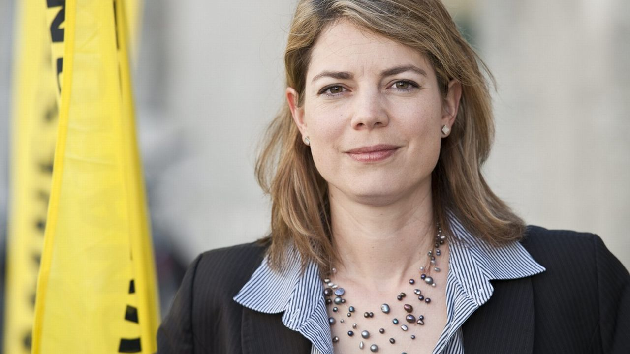 Manon Schick, directrice de la section suisse d'Amnesty International [Alessandro della Valle - Keystone]