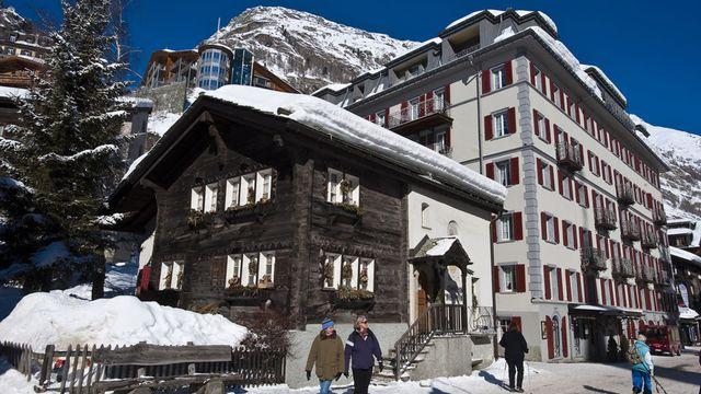 L'hôtel Monte Rosa de Zermatt. [Patrick frilet - hemis.fr - AFP]