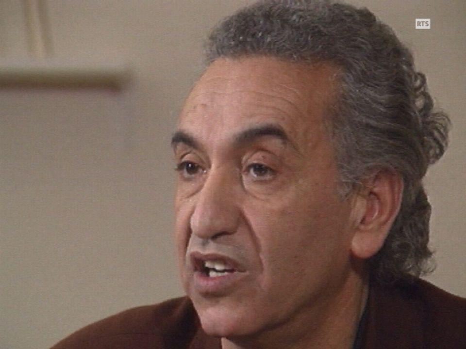 Hocine Aït-Ahmed à Lausanne en 1989. [RTS]