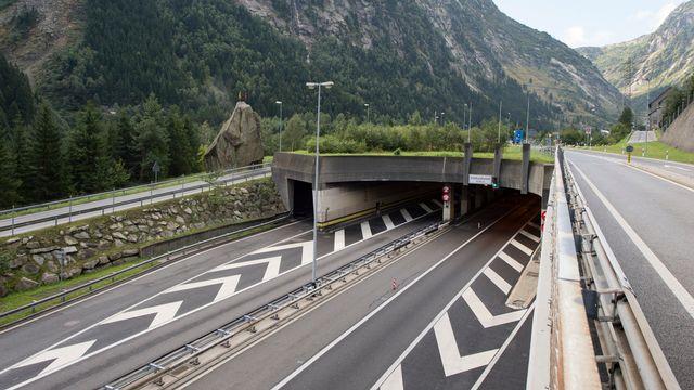 L'entrée nord du tunnel du Gothard. [Urs Flueeler - key]