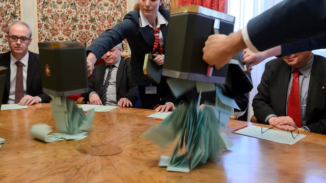 Le vote blanc n'est pas pris en compte lors de l'élection au Conseil fédéral [AFP POOL/Fabrice Coffrini - key]