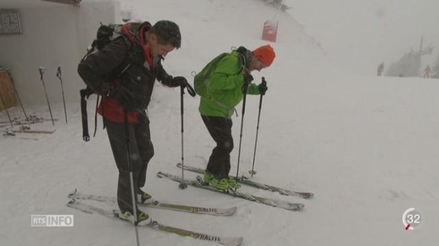 Le retour tant attendu de la neige ravit les stations de ski [RTS]