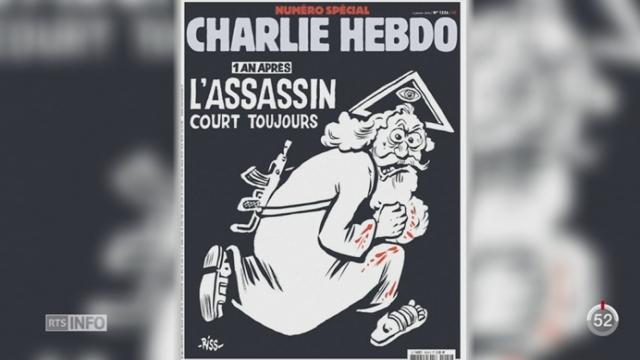 Un an après, Charlie Hebdo commémore la tuerie avec un numéro spécial [RTS]