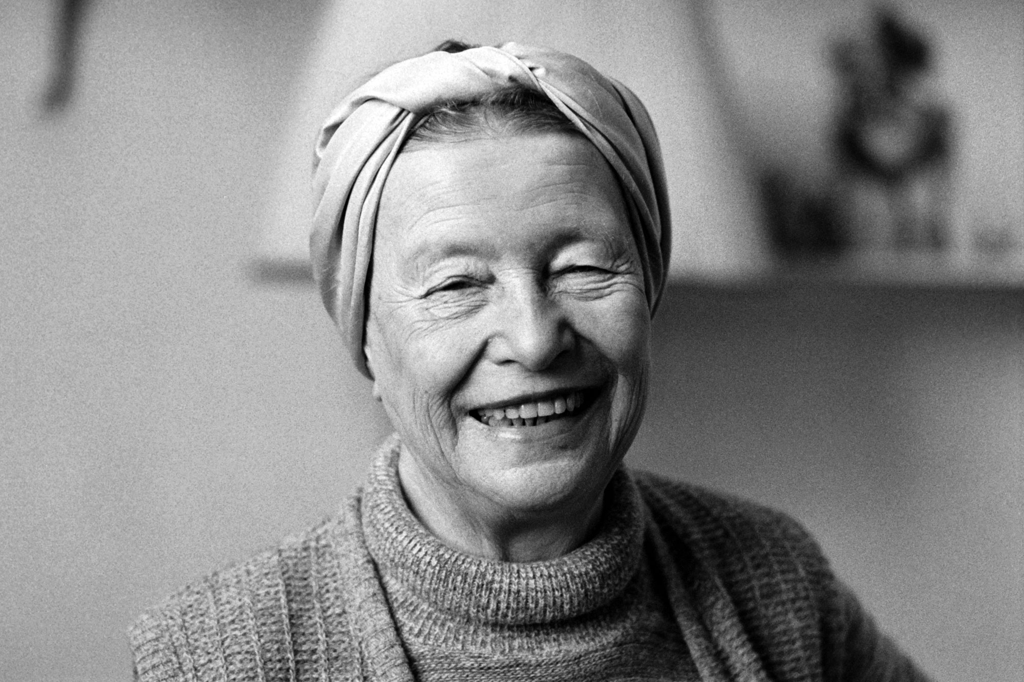 Simone de Beauvoir, Paris 1983.