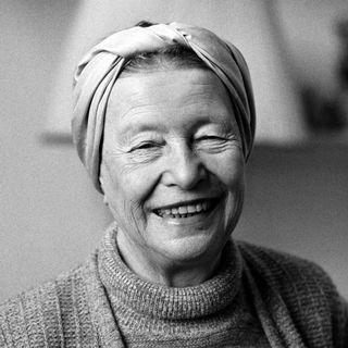 Simone de Beauvoir, Paris 1983. [Michele Bancilhon - AFP]