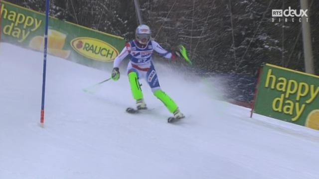 Slalom dames : Denise FEIERABEND (SUI) [RTS]