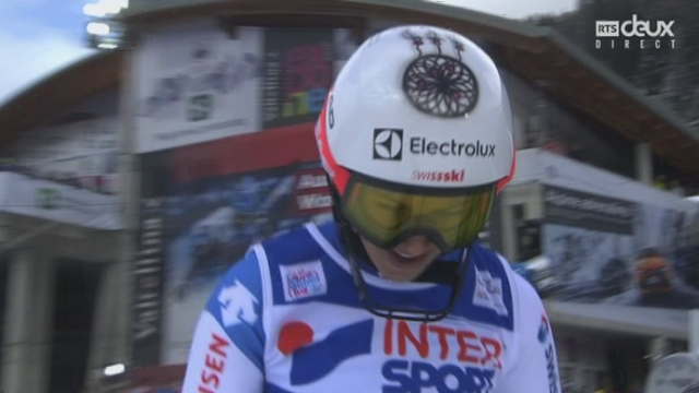 Slalom dames, 2e manche : Wendy HOLDENER (SUI) [RTS]