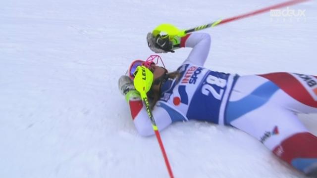 Slalom dames, 2e manche : Charlotte CHABLE (SUI) [RTS]